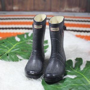 Hunter Carnaby Boa Snake Med Rain Boot Size 8M 9F